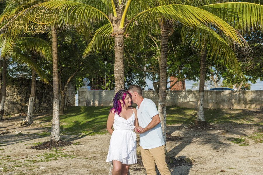 romantic photo session in Cozumel