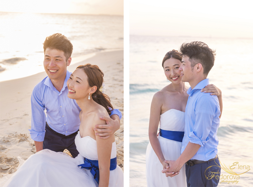 sunset beach photo session couple