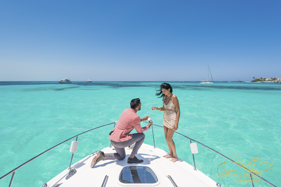 Cancun proposal on yacht