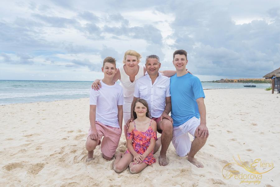 family united photo on the beach