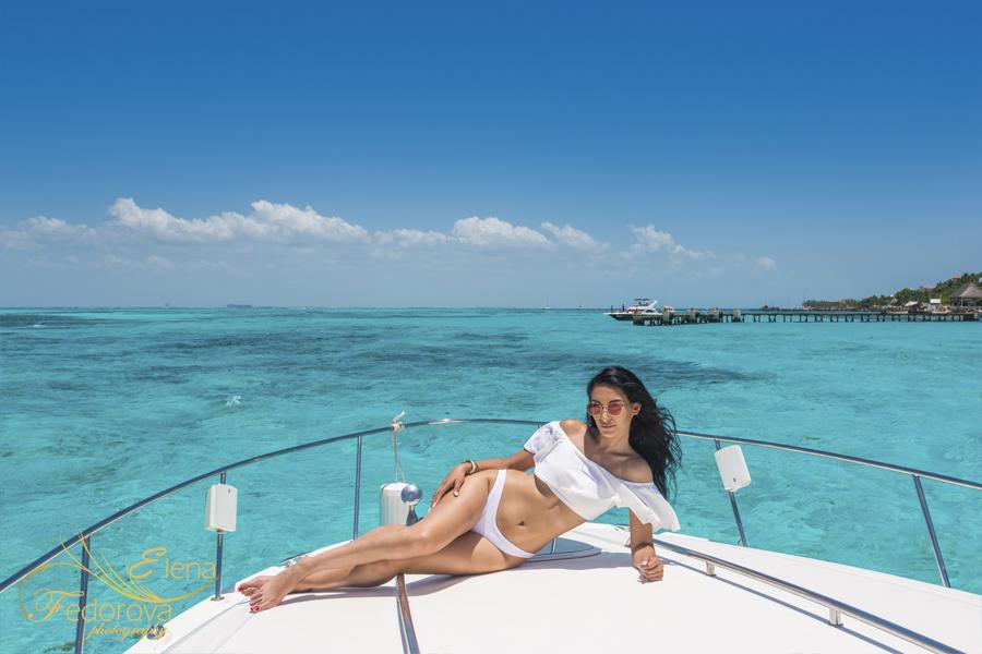 glamour photoshoot yacht