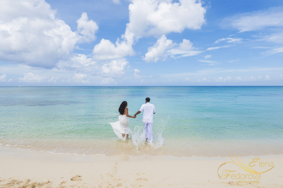 photos trash the dress Cozumel