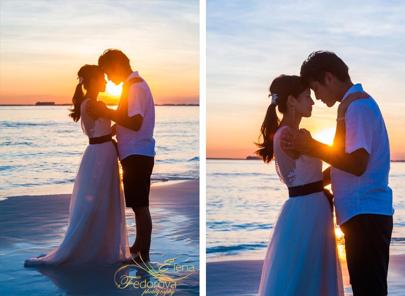 lovely sunset photo shoot