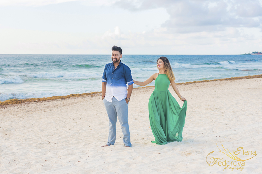 photo session for indian couple cancun