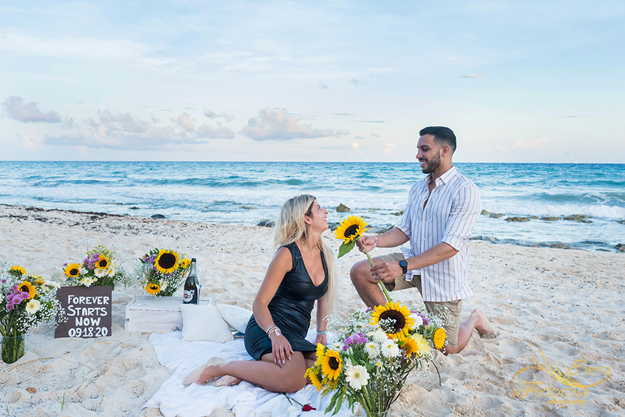 proposal decoration on beach