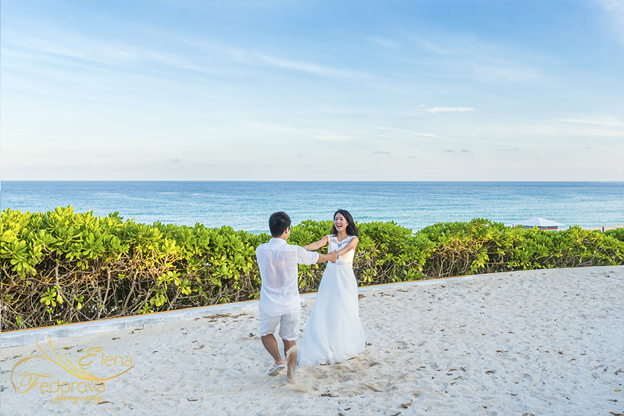 cancun wedding images