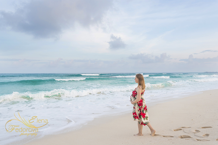 maternity photoshoot Cancun
