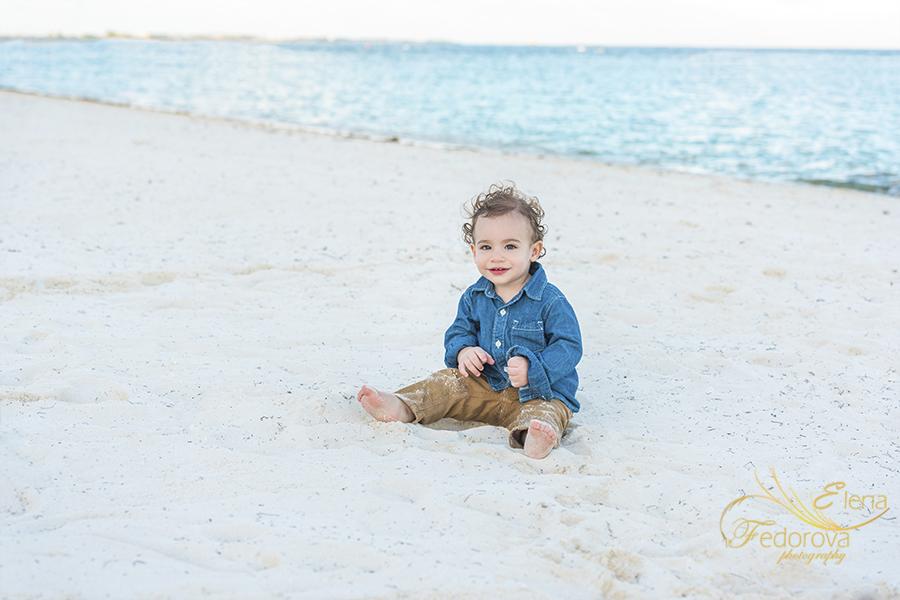 baby beach portrait rosewood mayakoba