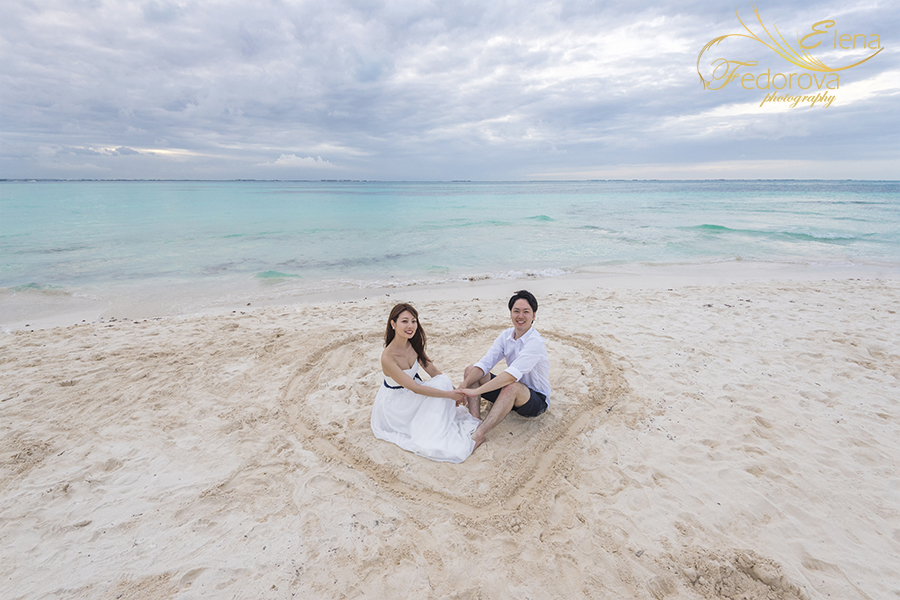 heart sign on beach photo