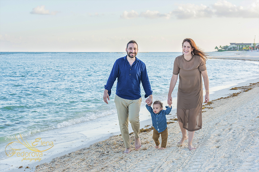 mayakoba rosewood family photo session