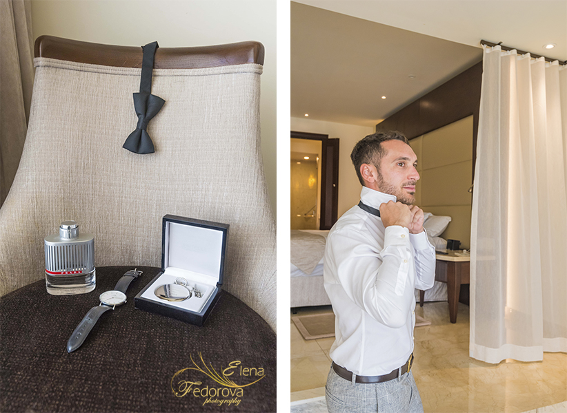 moon palace cancun wedding groom getting ready