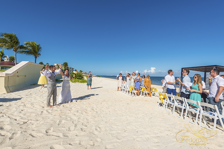 moon palace wedding at the beach