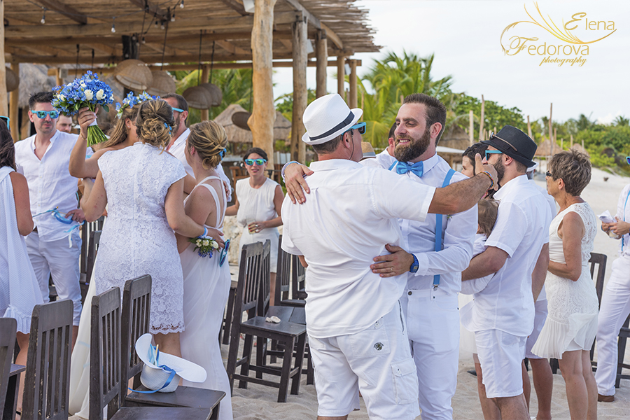 after wedding blue venado beach club photo
