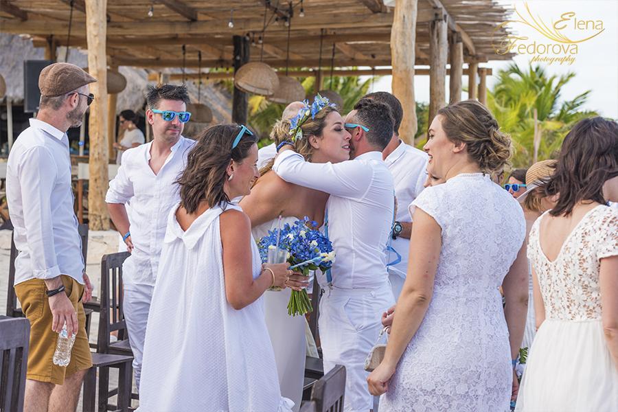 after wedding blue venado beach club photos