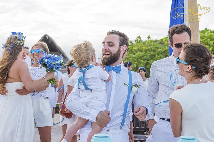 after wedding blue venado beach club