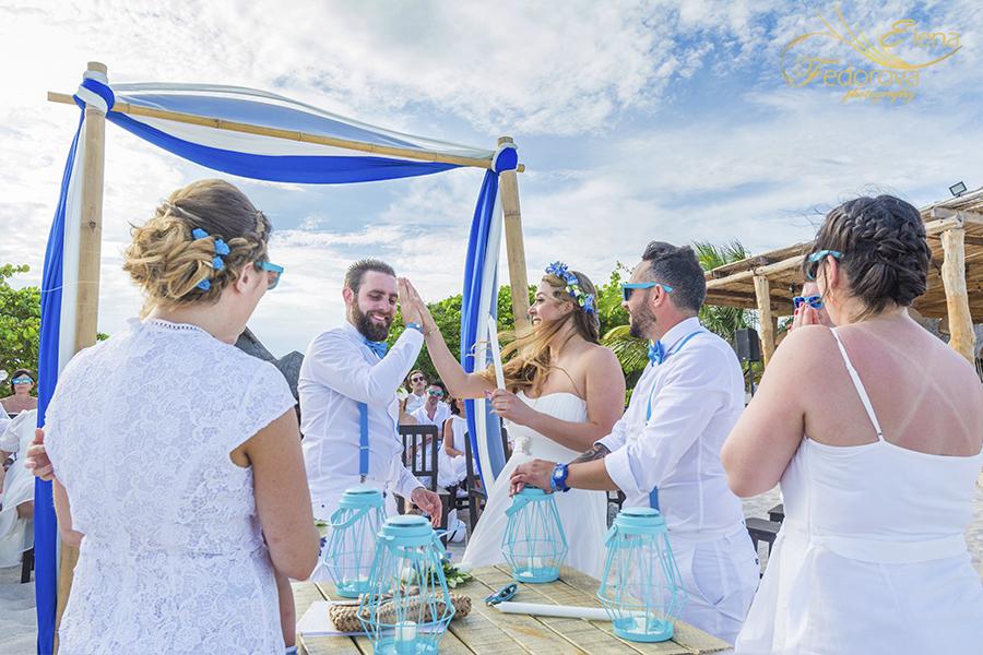 amazing wedding ceremony blue venado beach club