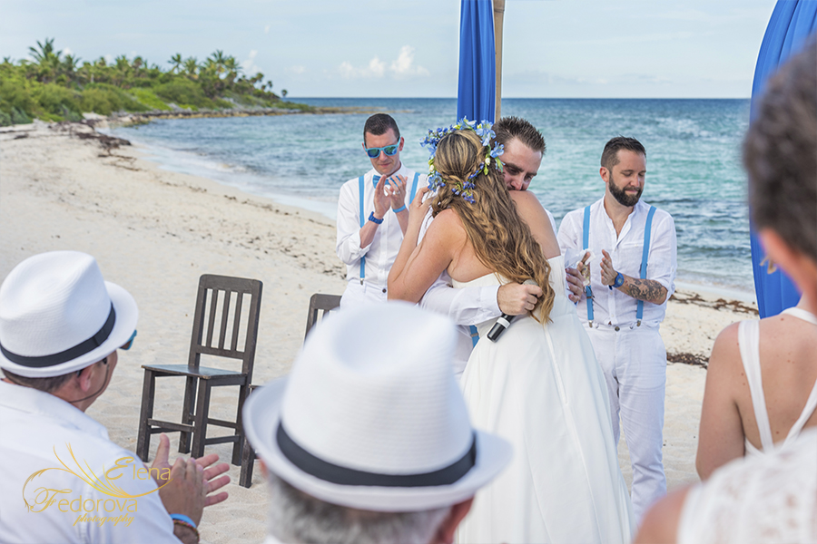 beach wedding at wedding entrance blue venado beach club photo