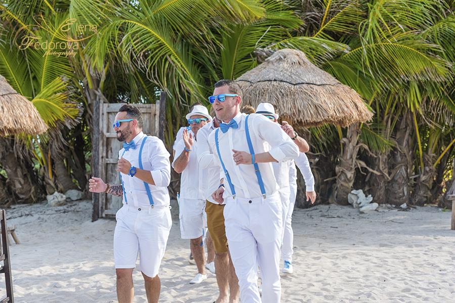 beach wedding at wedding entrance blue venado beach club