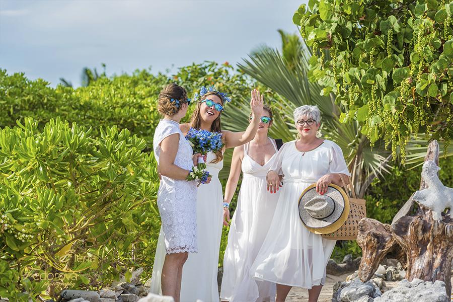 bride at blue venado beach club