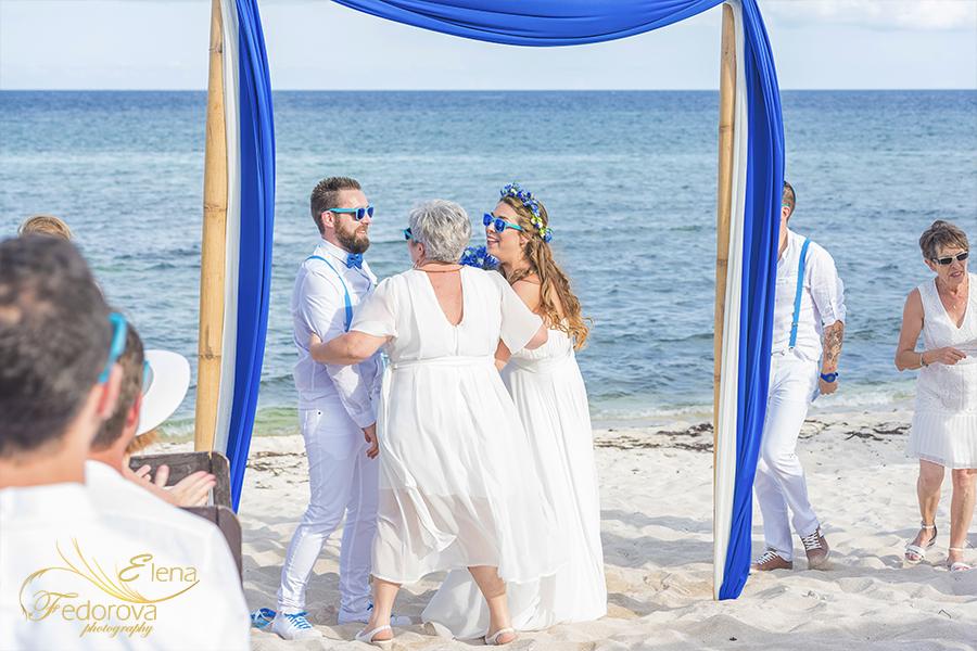 ceremony about to start wedding beach at blue venado beach club