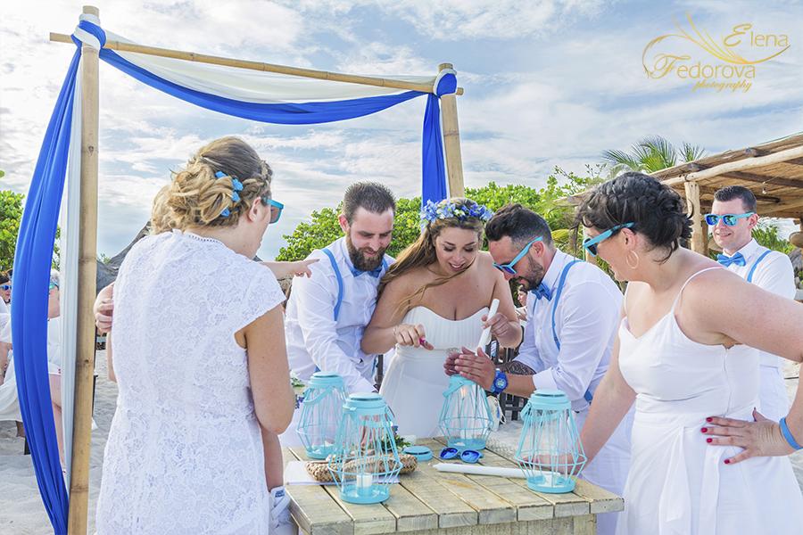photo wedding ceremony blue venado beach club