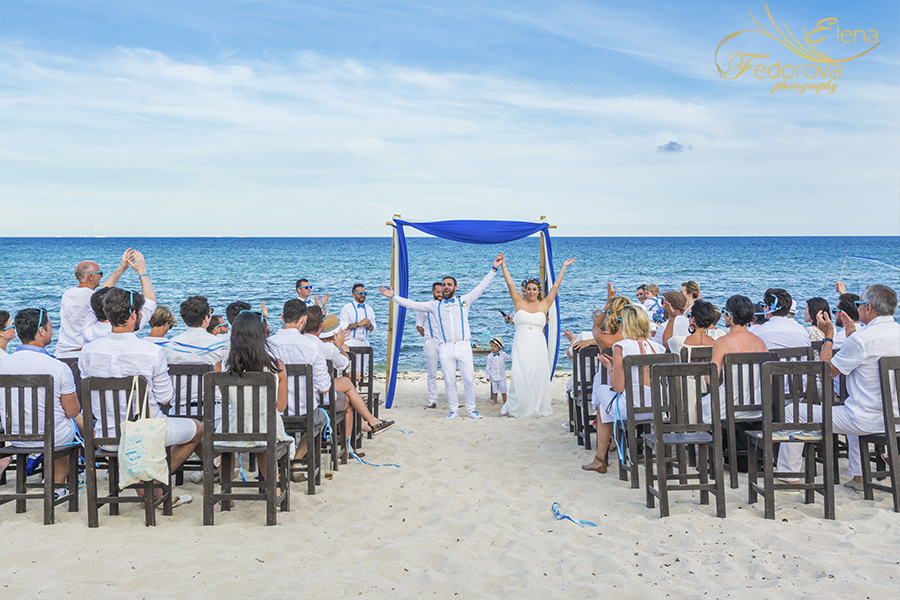 photos wedding ceremony blue venado beach club