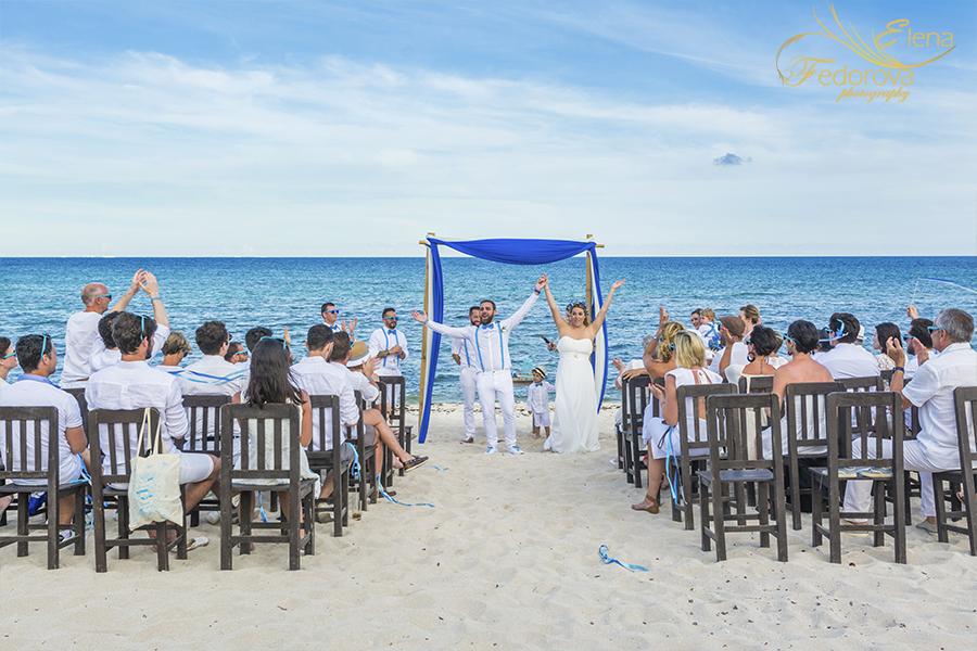 photos wedding ceremony blue venado beach club