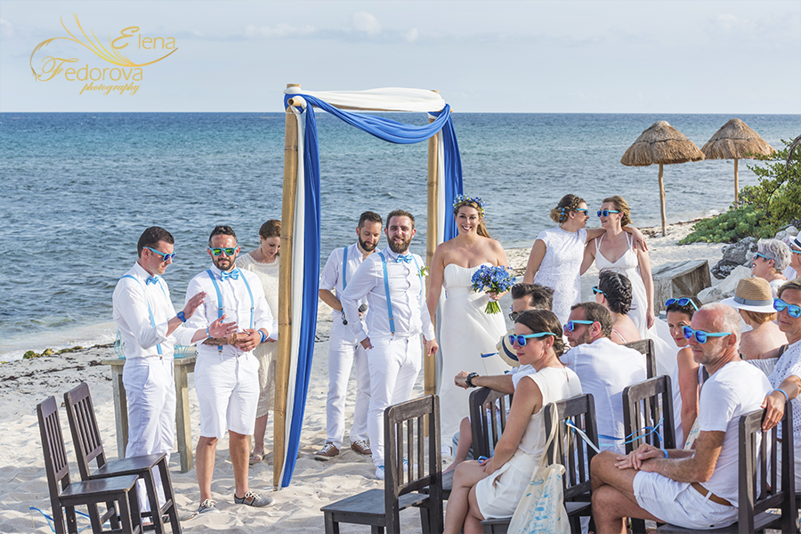wedding blue venado beach club
