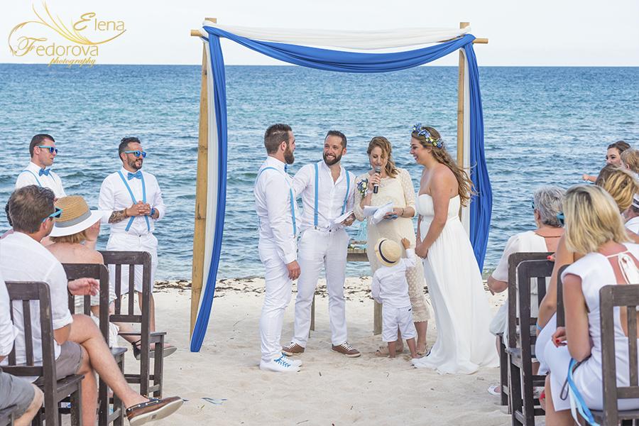 wedding ceremony blue venado beach club