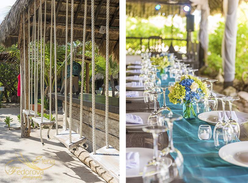 wedding decoration photo blue venado beach club