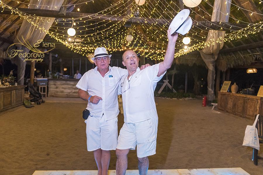 evening wedding at blue venado beach club