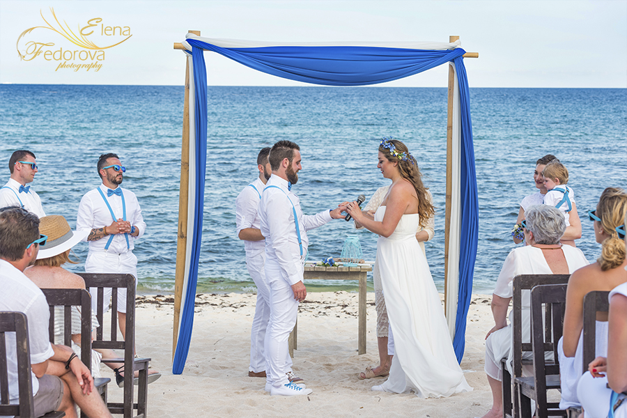 weddings ceremony at blue venado beach club