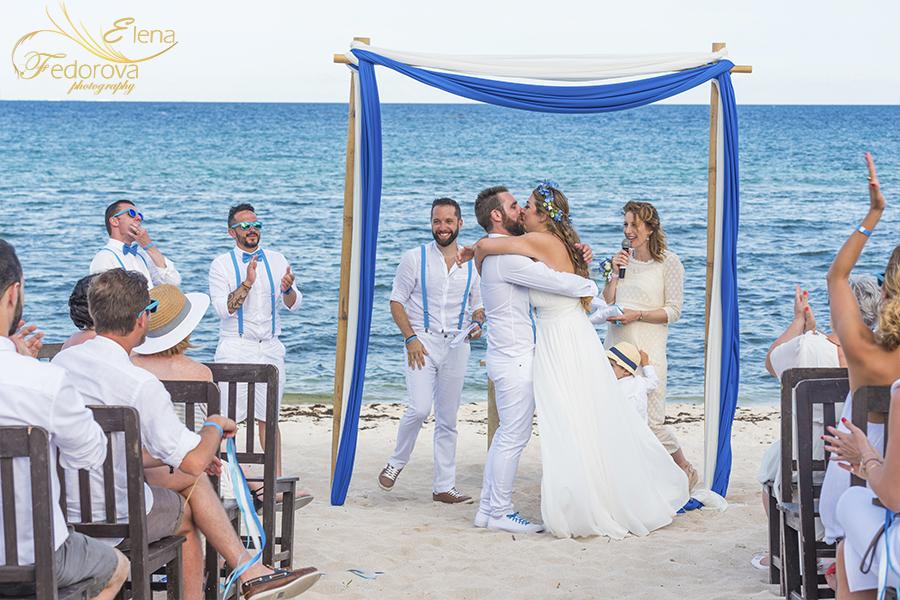 weddings ceremony blue venado