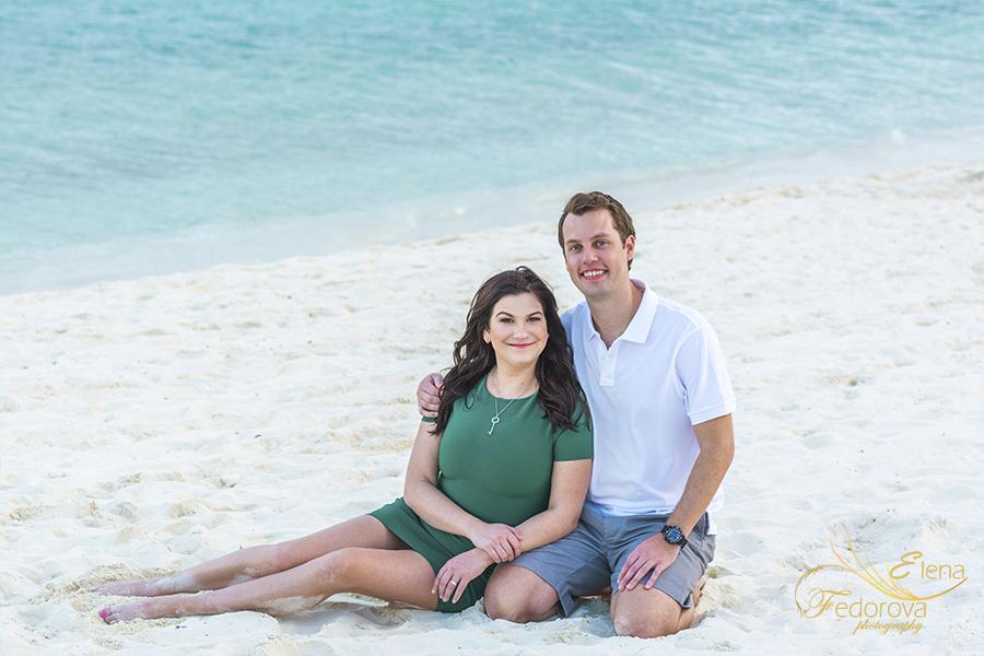 beach couple mayakoba resort