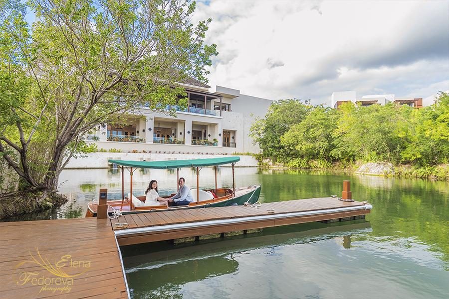 mayakoba resort boat river