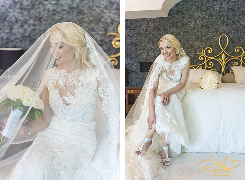 bride portrait in room