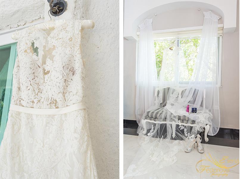 dress of bride