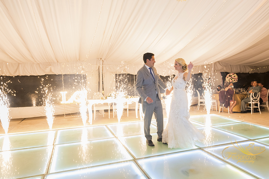 first dance and fireworks