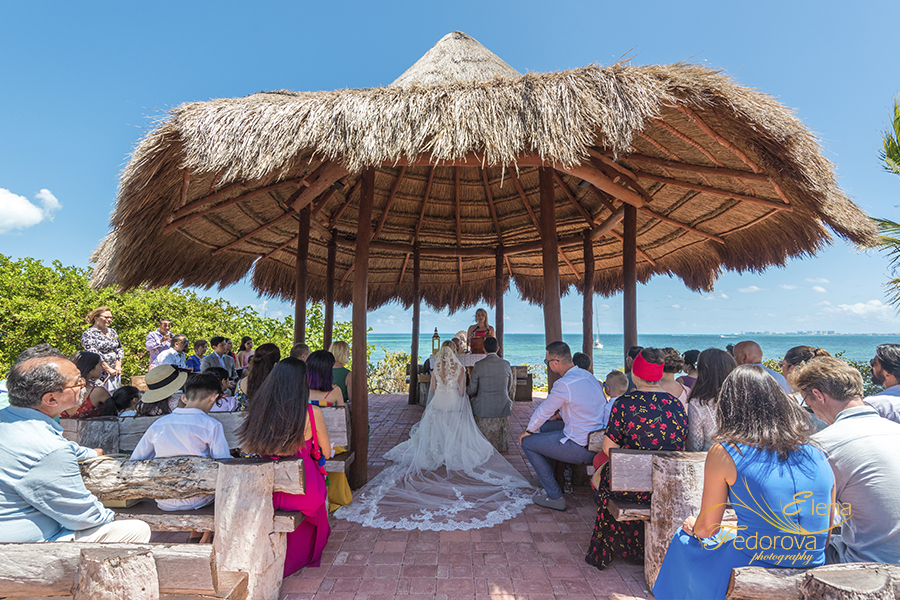ocean weddings cancun palapa