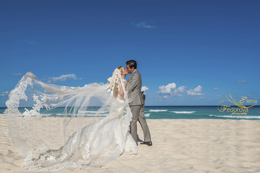 sweet kiss on beach