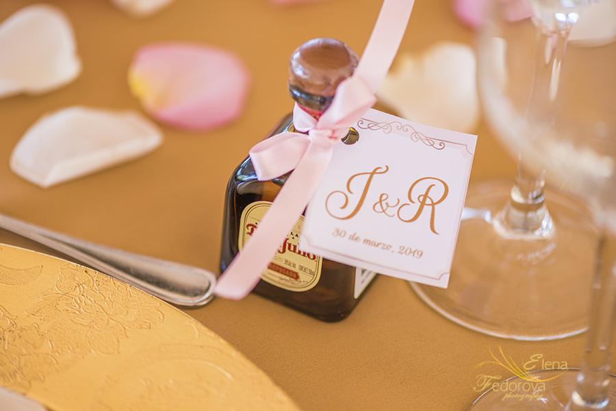 wedding details table design