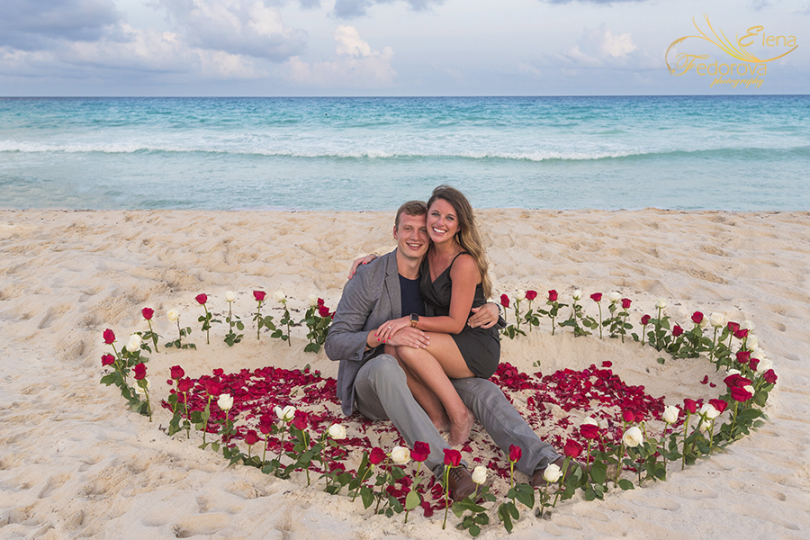 cancun photographer marriage proposal