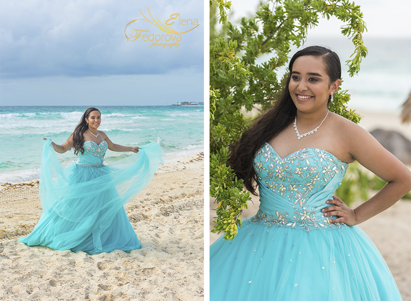 cancun quinceanera photo shoot