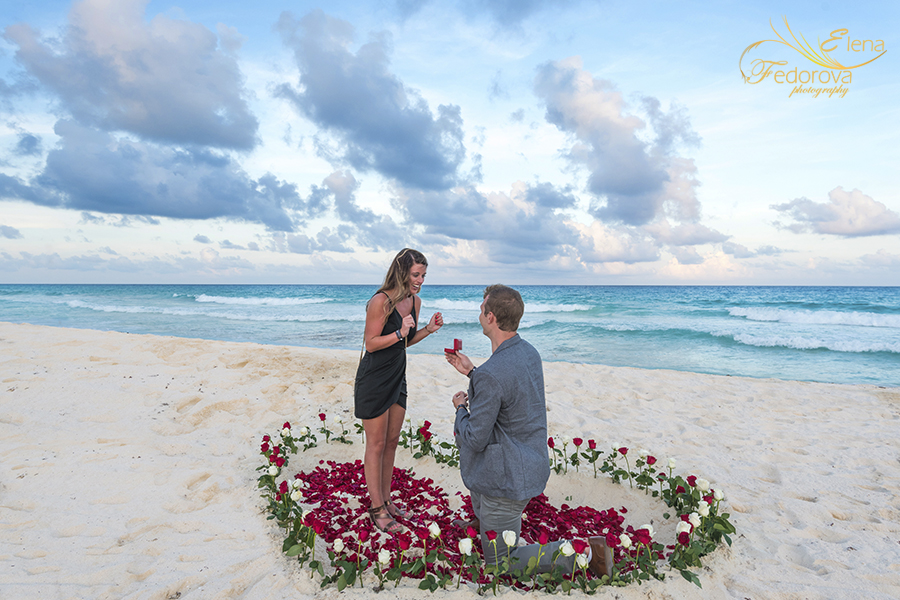 cancun surprise marriage proposal