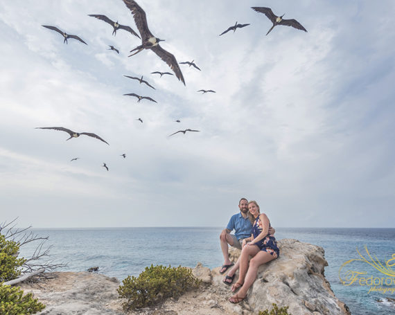 Marriage proposal in Isla Mujeres.
