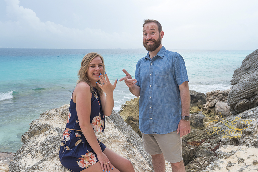 lovely proposal in isla mujeres
