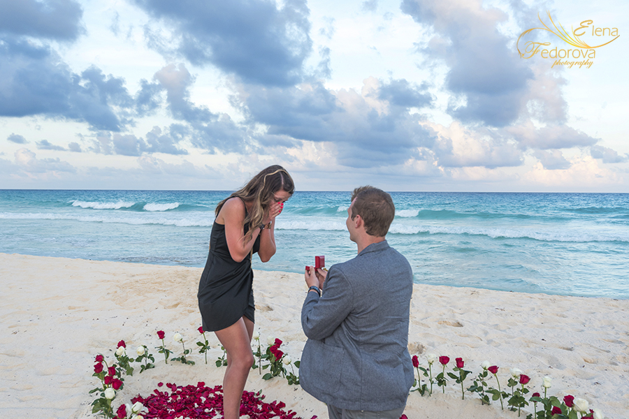 marriage proposal cancun