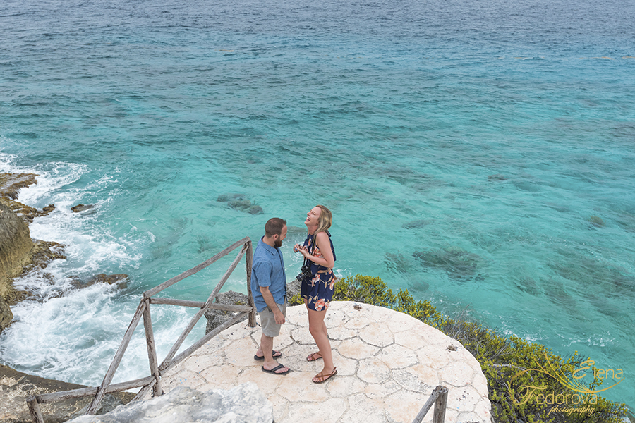 marriage proposal photo session isla mujeres