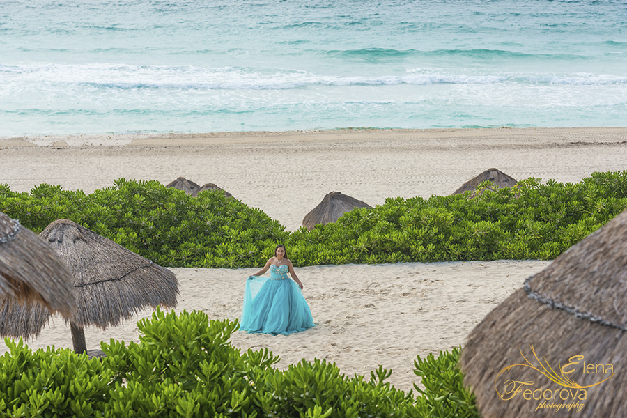 quinceanera beach photo shoot