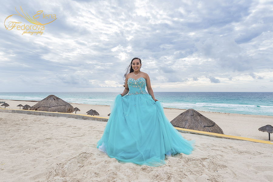quinceanera beach photography cancun